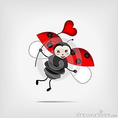 Ladybug with heart