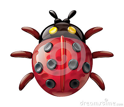 Ladybug illustration plasticine figurines