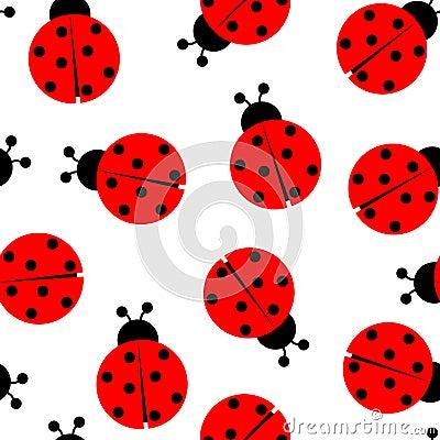 Free Ladybug Seamless Pattern Royalty Free Stock Photos - 15155548