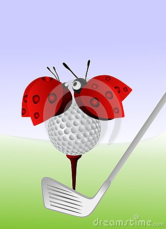 Free Ladybugs And Golf Royalty Free Stock Photography - 38952007
