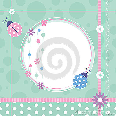 Free Ladybugs Greeting Card Royalty Free Stock Photo - 37051715