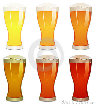 Lager, Amber And Stout Beers Set