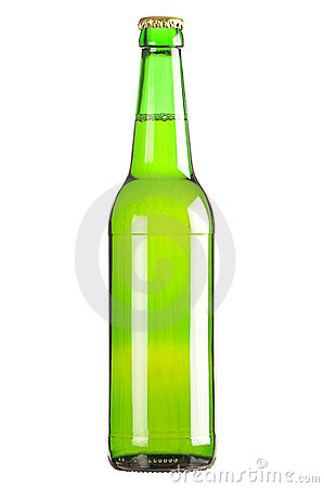 Lager beer bottle