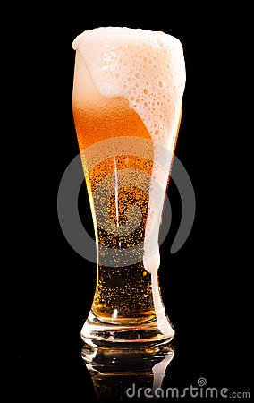 Free Lager Beer On Black Royalty Free Stock Photos - 29718098