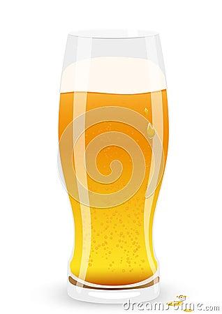 Lager beer. Vector illustration.