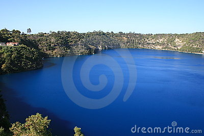 Lago azul, Mt Gambier, Sul da Austrália