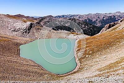 Lago Cayolle pequeno