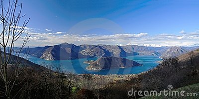 Lago d Iseo and Montisola from S. Maria del Giogo