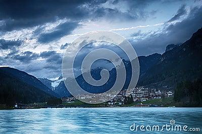 Lago di Auronzo (Lago Di Santa Caterina) at dusk