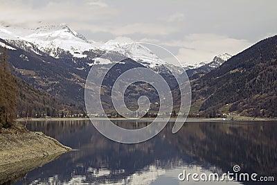 Lago di Poschiavo at  Alpine valley