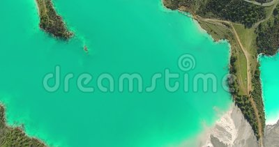 Lago e Forest Aerial Footage turquoise filme