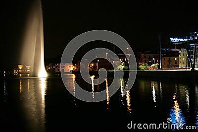 Ginebra en la noche