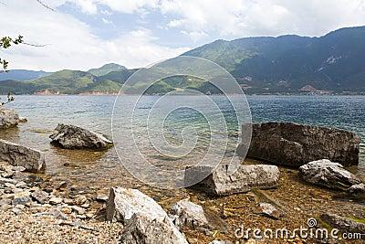 Lago Lugu em Yunnan, China