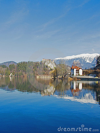 Lago sangrado - Slovenia, inverno