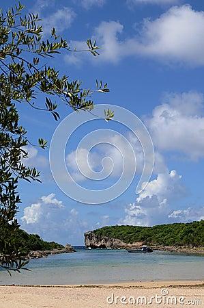 Lagon de la Porte d Enfer in Guadeloupe