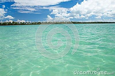 Lagoon on caribbean sea