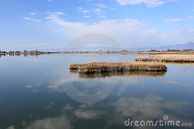 Lagoon of Lagos near to Aegean sea