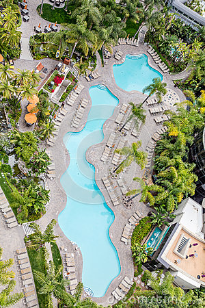 Free Lagoon Pool From Above Stock Photo - 74047590