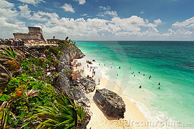 Lagoon of the Tulum beach