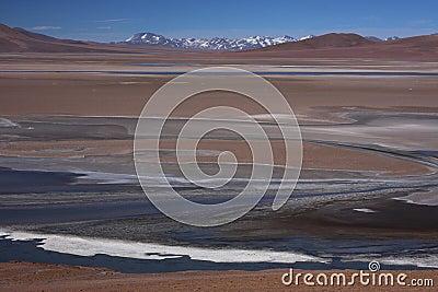 Laguna and mountains at Paso de Jama