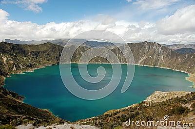 Laguna Quilotoa in Ecuador.