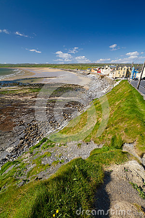Lahinch beach scenery in Co. Clare