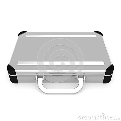 Laid Aluminum Attache Case Front View