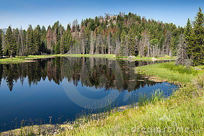 Lake along Chief Joseph Scenic Byway