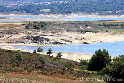 Lake of Alto Rabagao in North Portugal