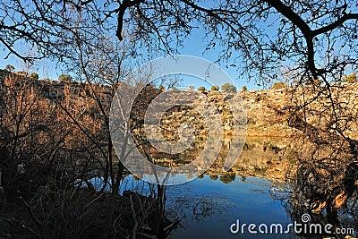 Lake in Arizona desert