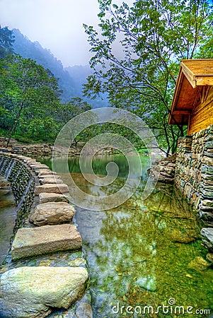 Free Lake At Wudang Shan Temple Stock Image - 4494071