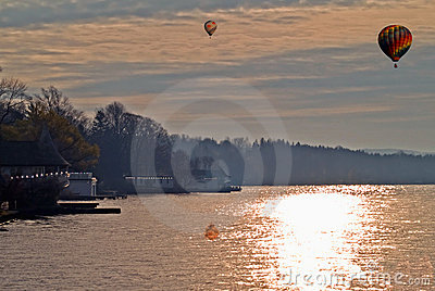 Lake In Autumn Scene Stock Photos - Image: 21543543