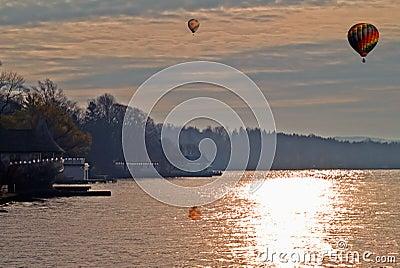 Lake in autumn scene
