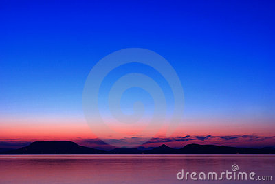 Lake Balaton at nightfall