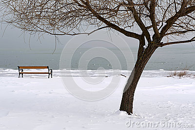 Lake Balaton in winter time,Hungary