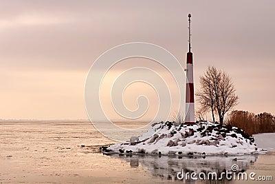 Lake Balaton in winter time,Hungary