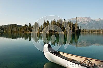 Lake Beauvert at Jasper, Alberta, Canada