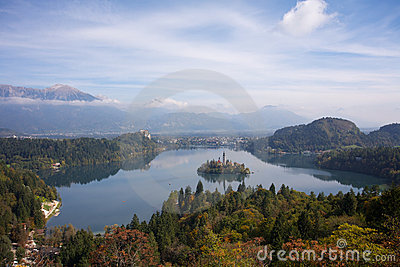Lake Bled with Island and Castle