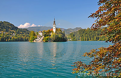Lake Bled,Julian Alps,Slovenia
