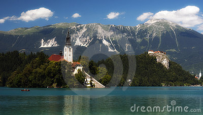 Lake in Bled, Slovenia, Europe