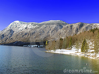 Lake Bohinj. Julian Alps. Slovenia