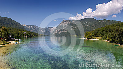 Lake Bohinj in summer