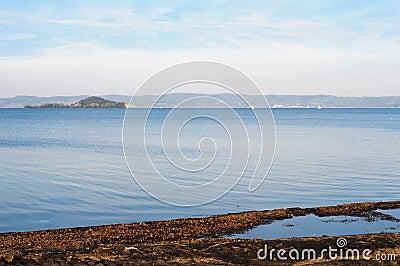 Lake Bolsena with the Bisentina Island