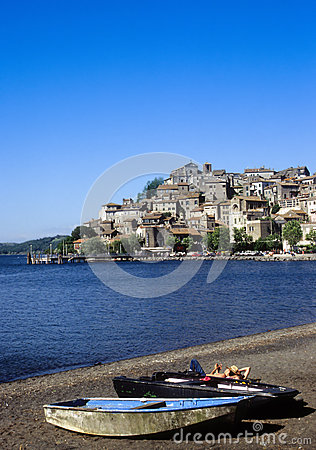 Lake Bracciano, Italy Editorial Photography