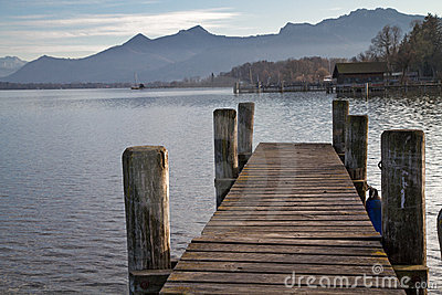 Lake Chiemsee in Bavaria, Germany