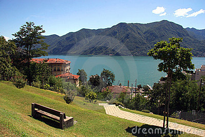 Lake and city of lugano