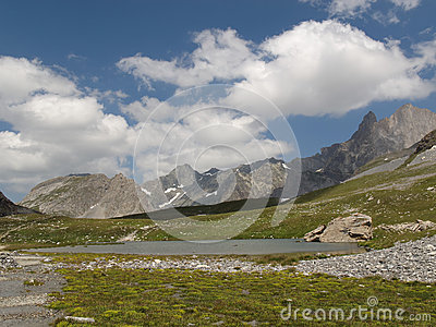 Lake on the Col de la Vanoise