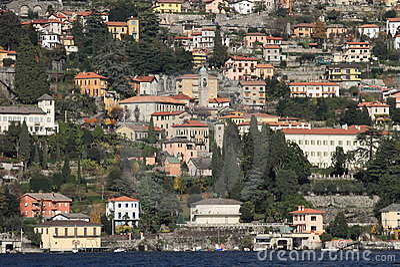 Lake Como and town, Italy