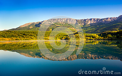 Lake in Crimea mountains