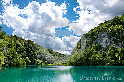 The lake in Croatia.
